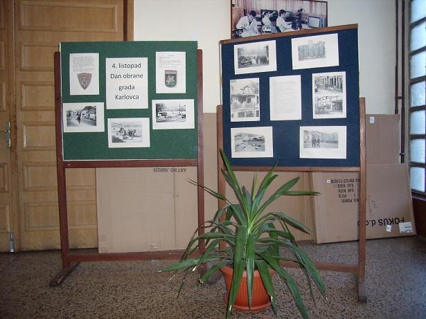 Prigodnom izložbom u holu škole kao i gostovanjem umirovljenog brigadira Dubravka Halovanića, koji je u domovinskom ratu bio Načelnik stožera zbornog područja Karlovac, obilježena je 20. godišnjica napada na grad Karlovac.